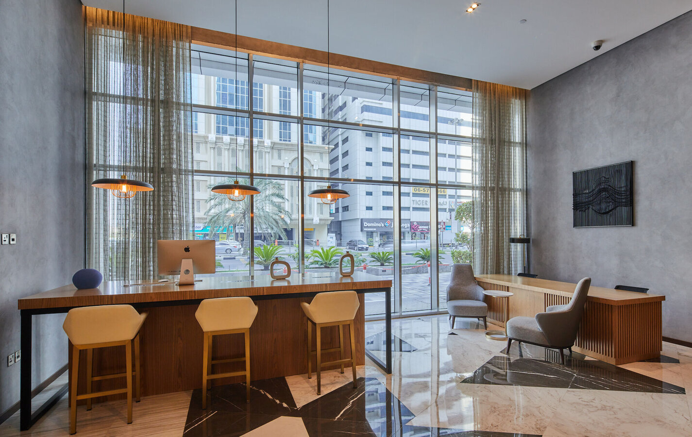 CW 50-SC Curtain Walls and CP 130 Sliding Systems - Apartmentcomplex Terhab Hotel & Apartment located in United Arab Emirates